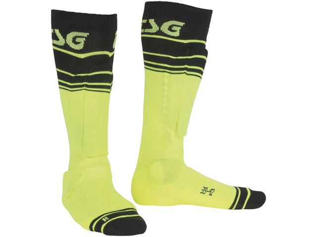 TSG Riot Socks yellow-striped